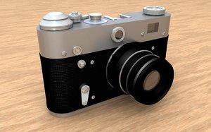 old camera lens c4d