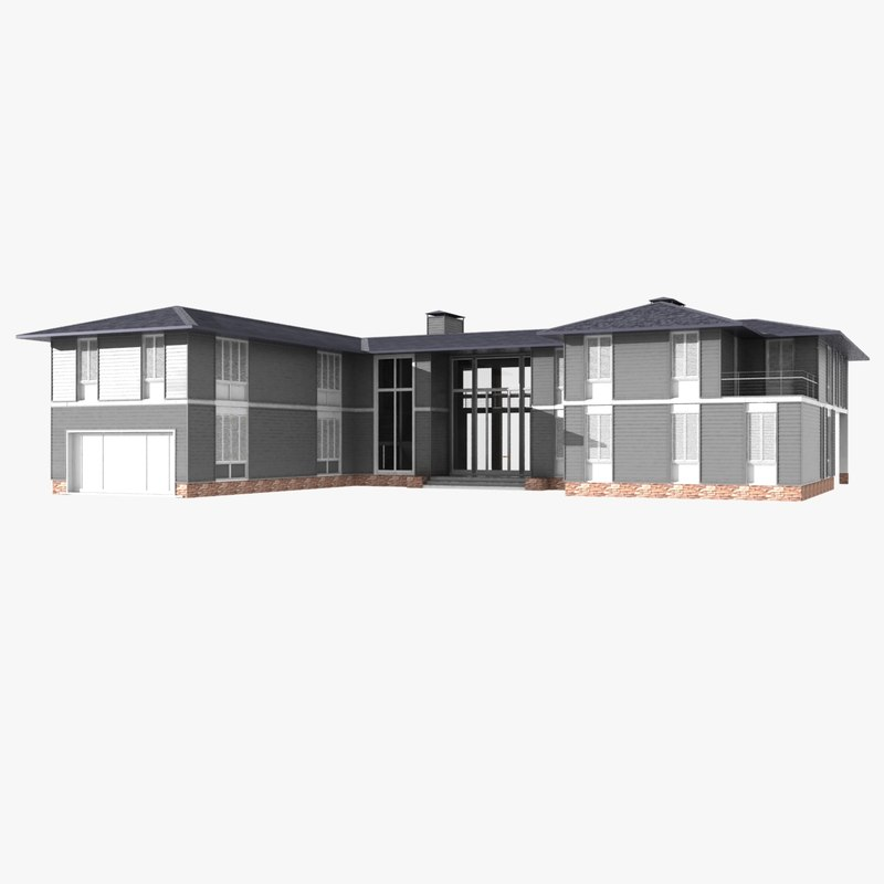 3d model single family house siding