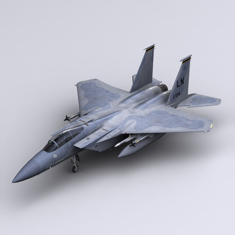 f-15 eagle fighter f-15c 3d model