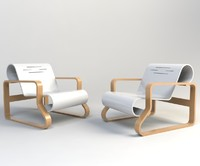 3d paimio chair model
