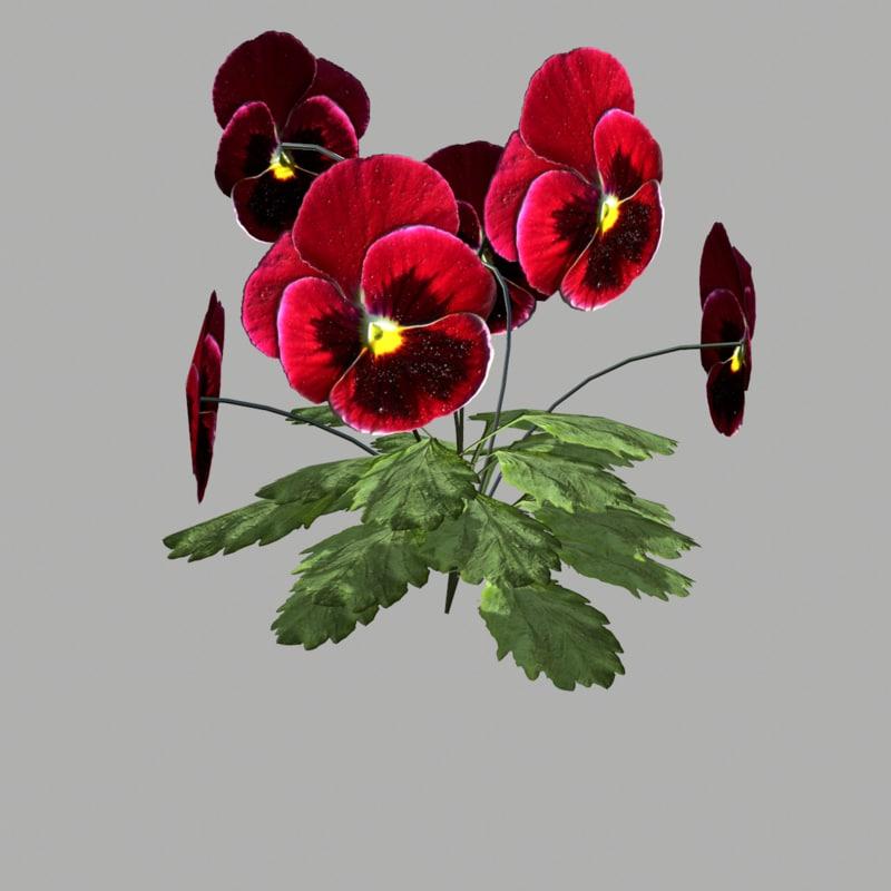 3d model flower 9
