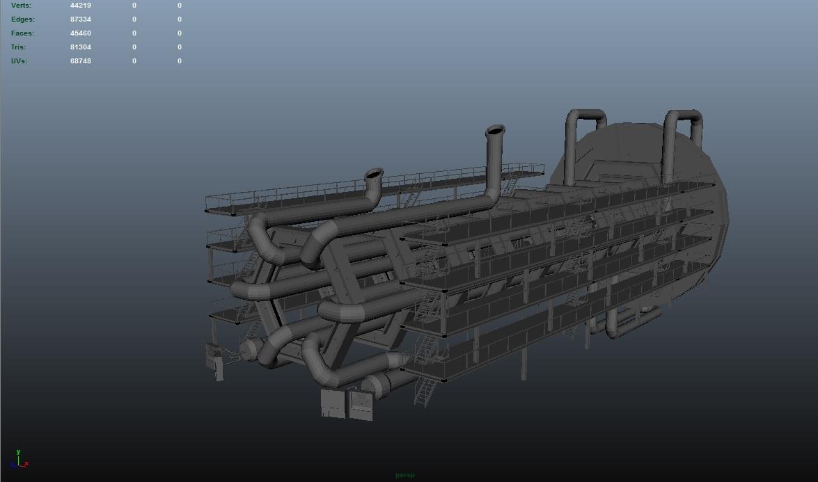 hadron collider 3d model