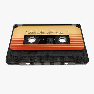 cassette tape 3d model