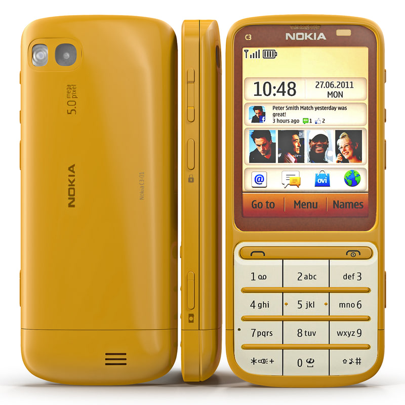 nokia c3-01 gold edition 3ds