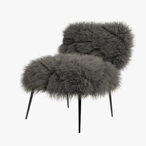 3d max baxter nepal chair hair fur