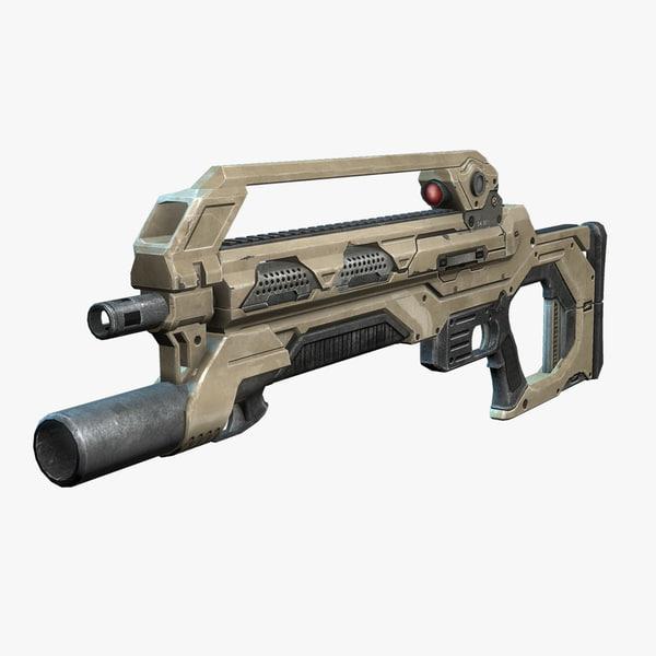 max sci-fi assault rifle