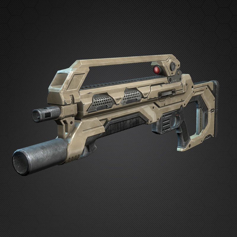 max sci-fi assault rifle