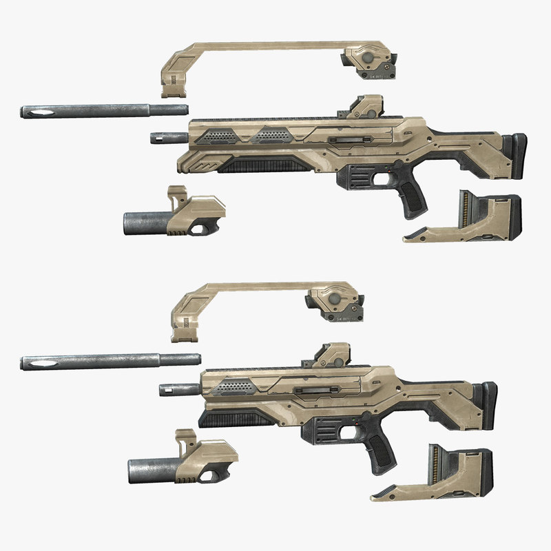 3ds max sci- rifle set