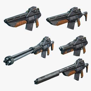 sci-fi rifles model
