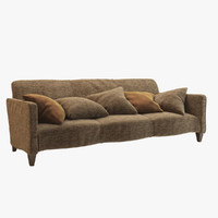 3d model serpentine sofa donghia