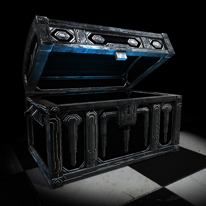 silver darkwood chest 3d x