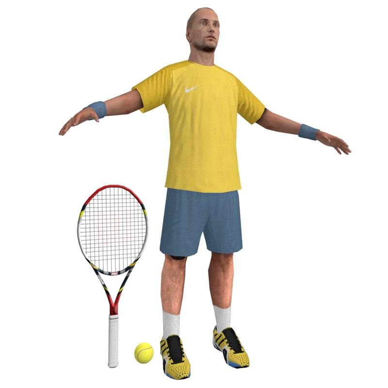 tennis player 2 3d model