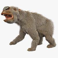 3d model diprotodon fur