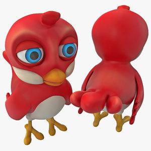 3d cartoon bird