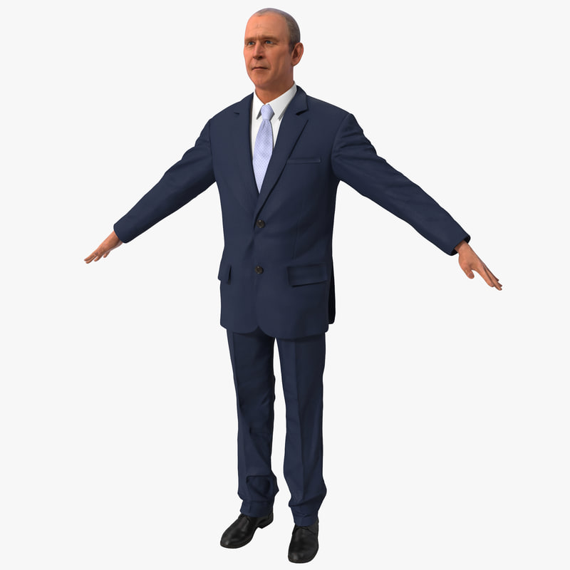 george bush 3d model
