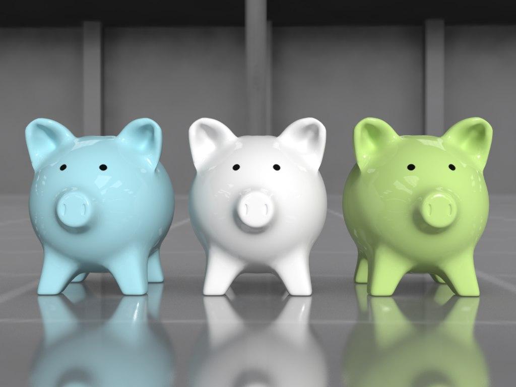 3d model of ceramic piggy bank
