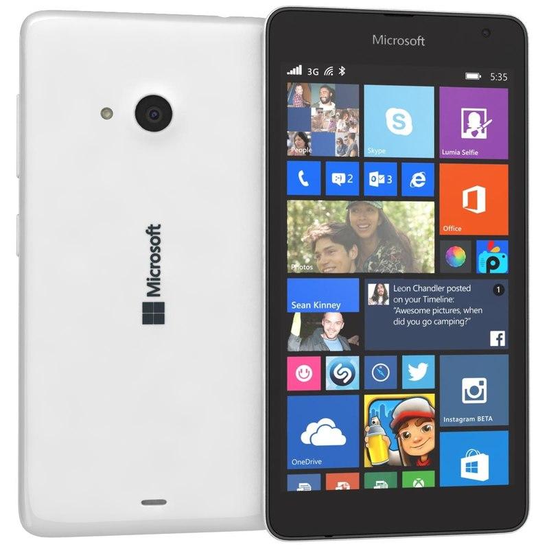 3ds microsoft lumia 535 white