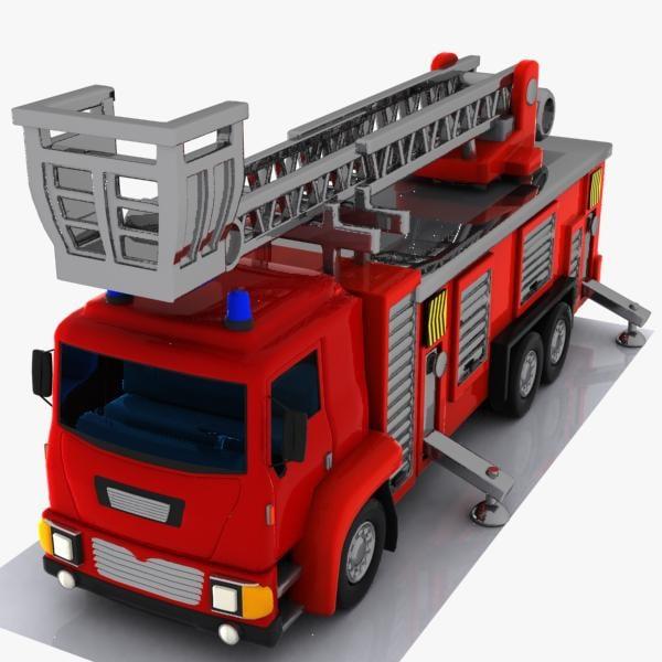 3d cartoon truck toon model