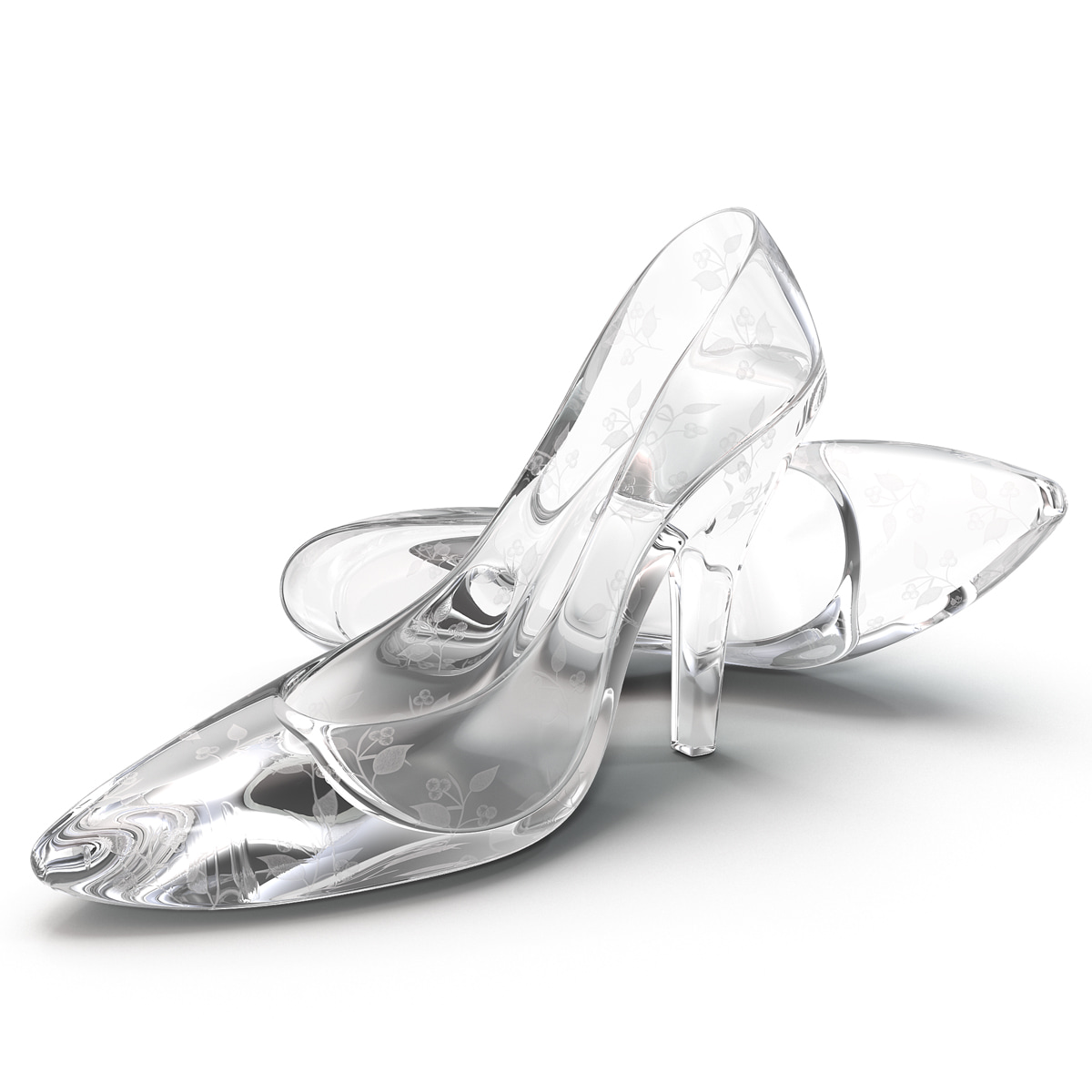 3d model glass shoes