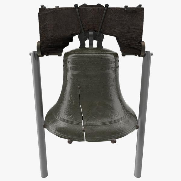 liberty bell 3d obj