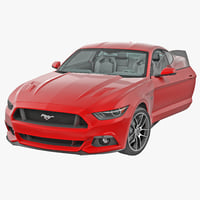 Sports Car Ford Mustang Coupe 2015 Rigged