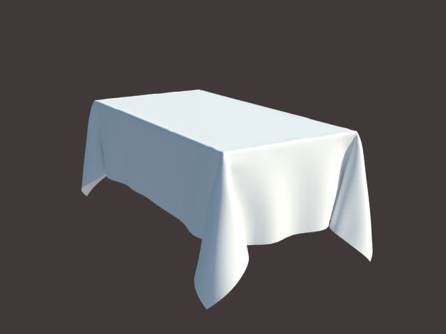 table tablecloth 3d 3ds