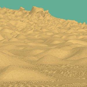 free terrain 1 - desert 3d model