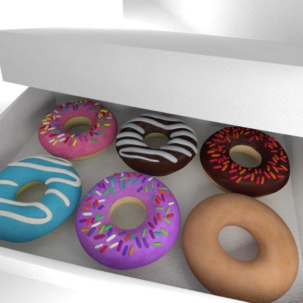 3d model donuts