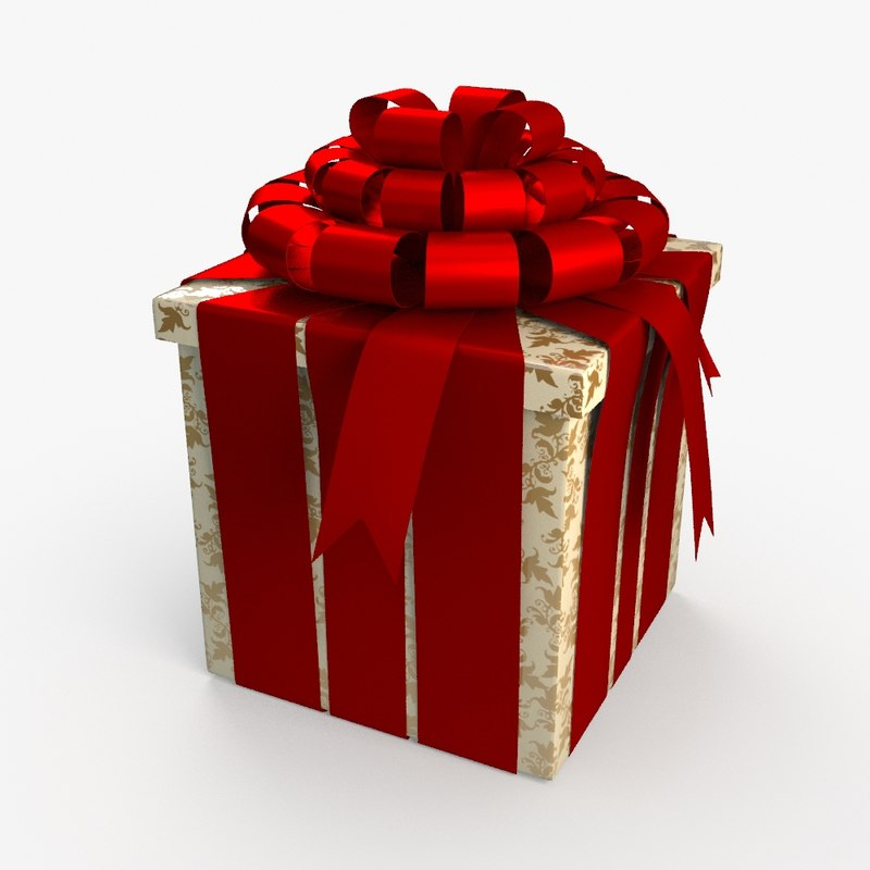 christmas gift present box 3d model