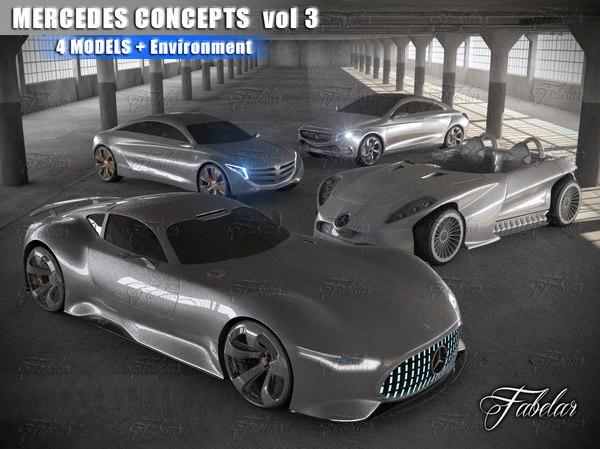 mercedes concepts vol 3 3d model