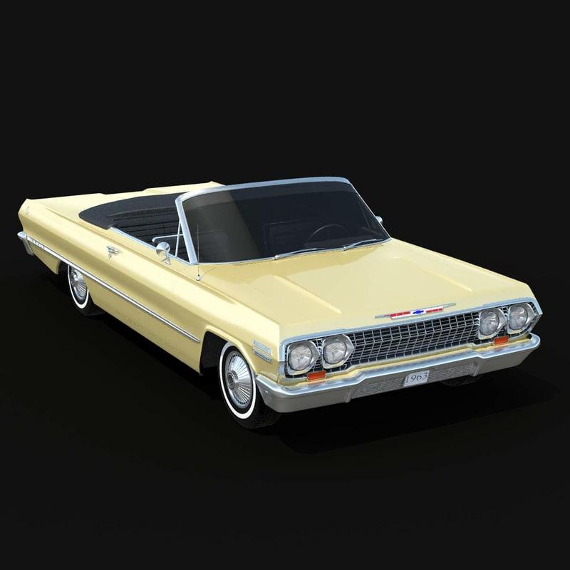 3d model of impala 63 convertible