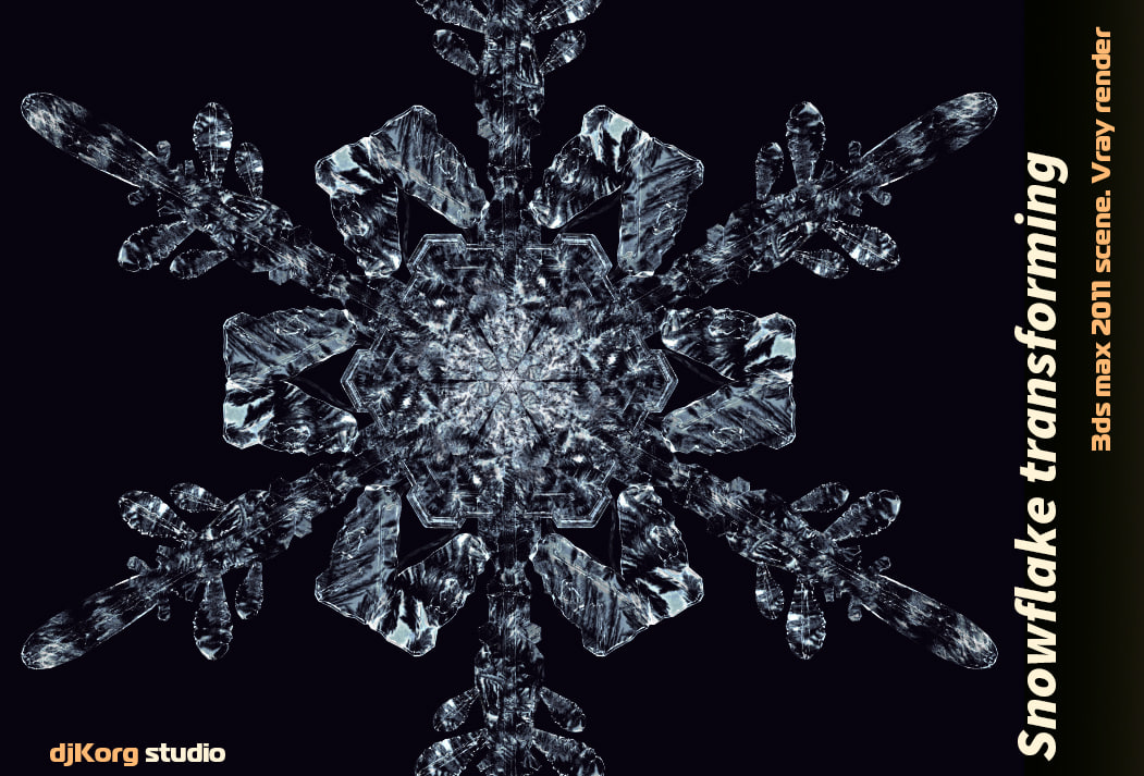 3d model snowflake animation