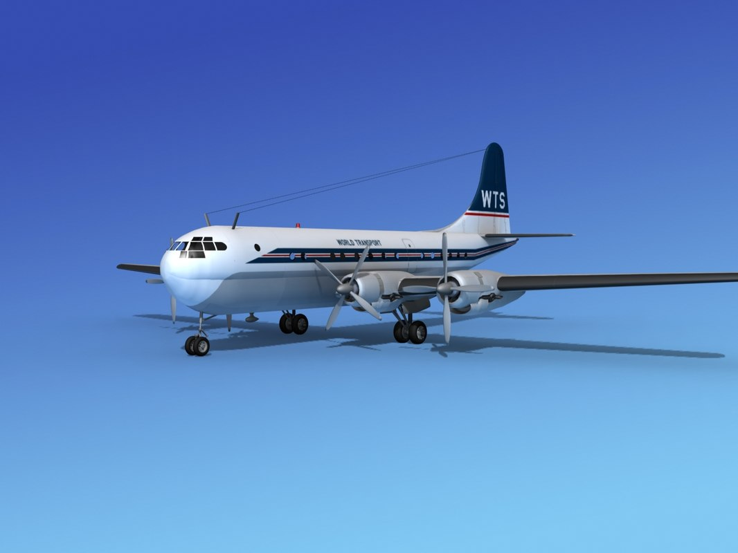 stratocruiser world boeing 377 3d model