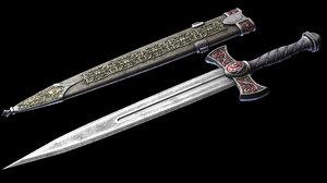 3d fantasy dagger