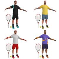 3d model tennis players