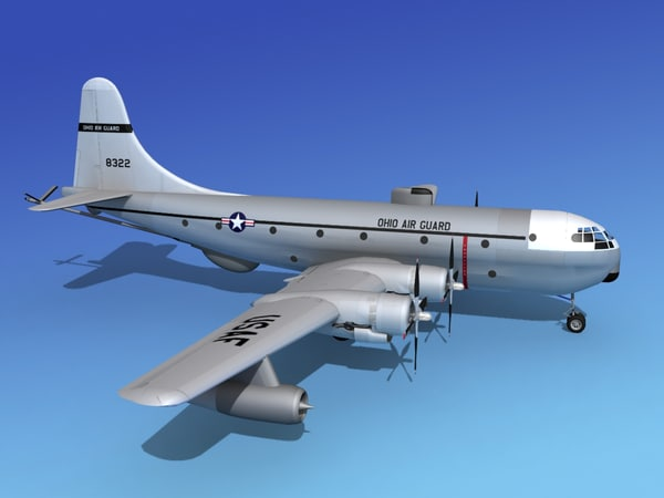 propellers tanker kc-97 air 3d model