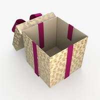 Christmas BOX Open2 Ribbon cream