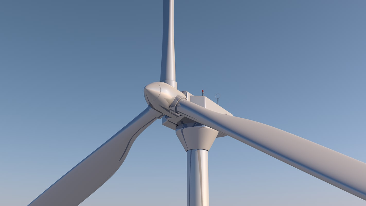 wind turbine 3d c4d