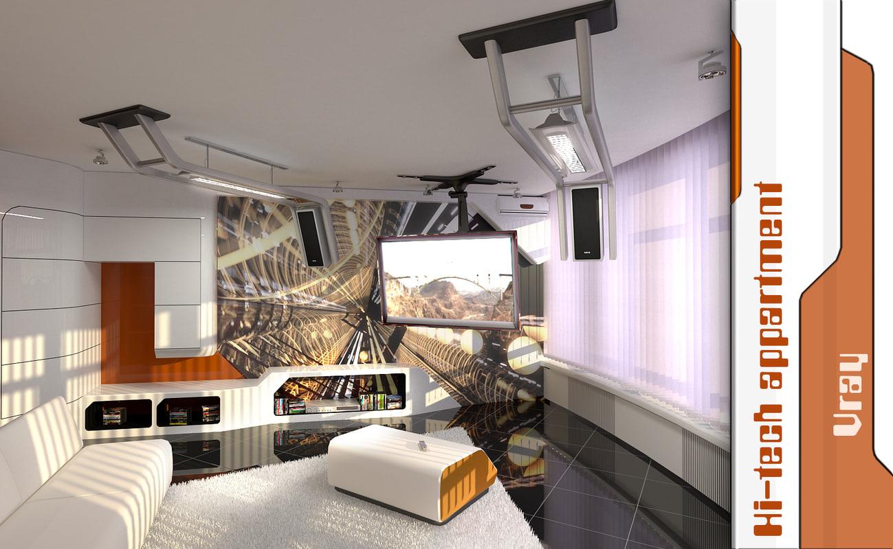 scene materials 3d model