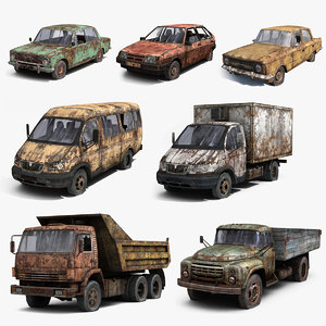 max set russian wrecked cars
