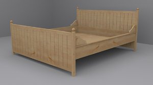 ikea hurdal bed frame 3d 3ds