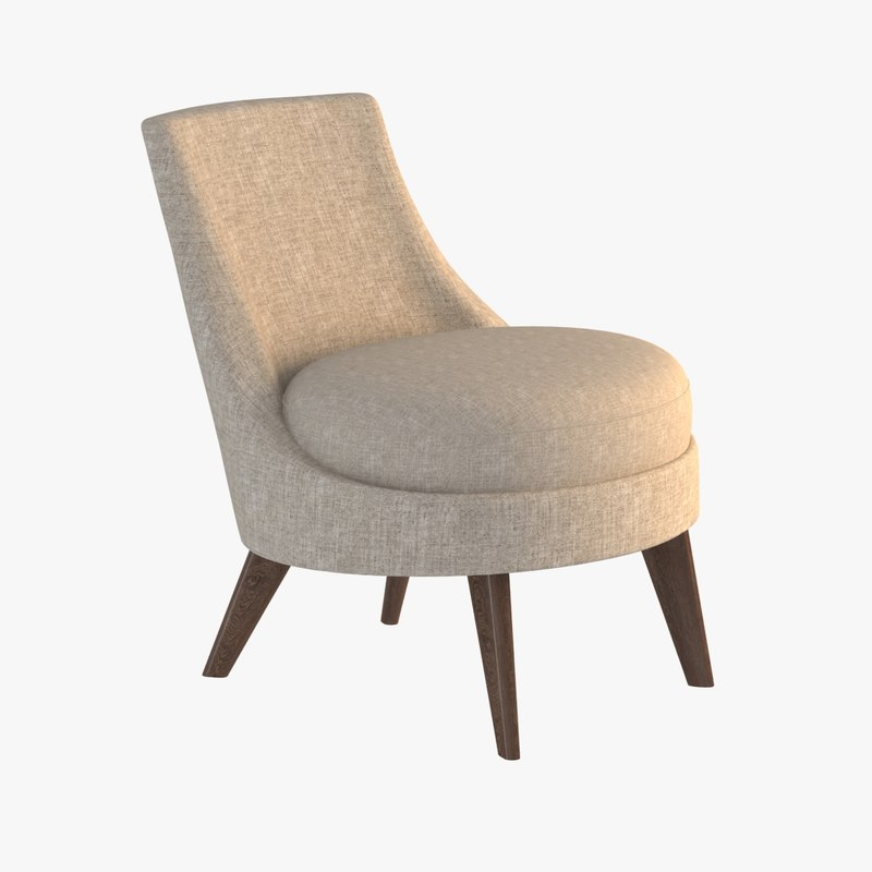 3d lounge chair pimlico model