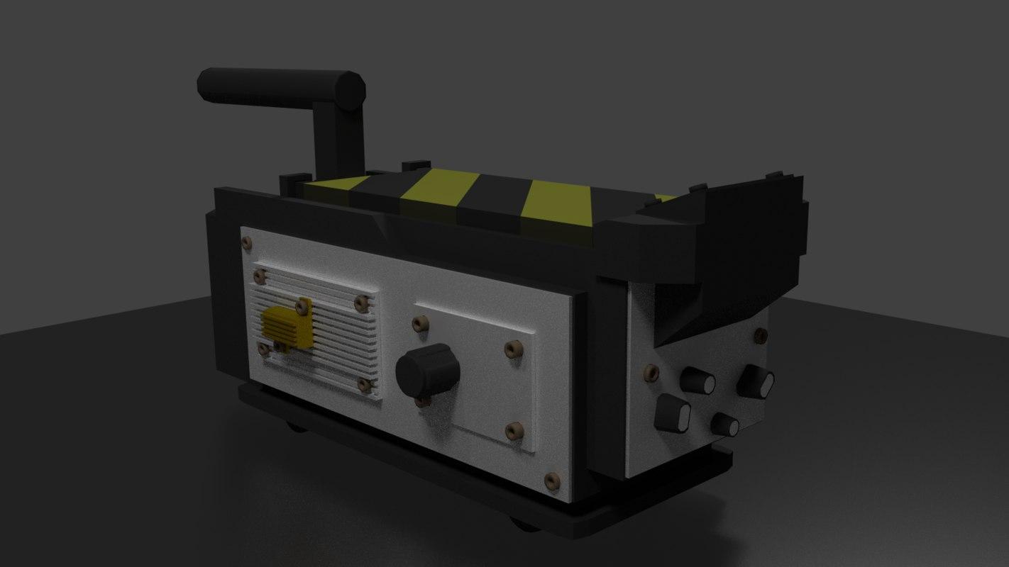 ghostbusters trap 3d model