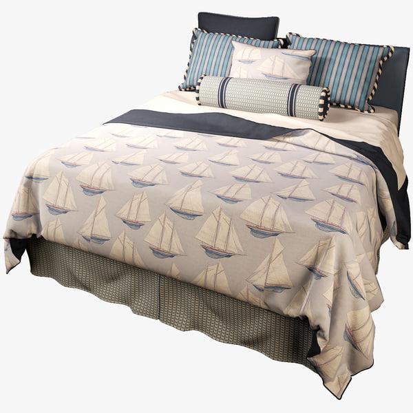 3d model bed mackinaw