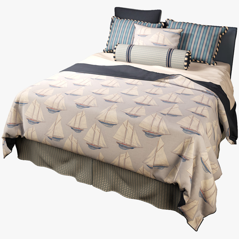 3d model bed mackinaw