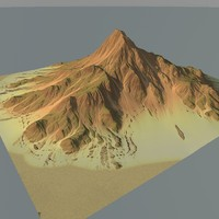 mountain terrain obj