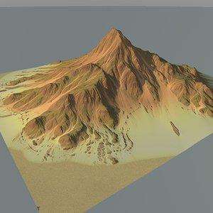mountain terrain obj