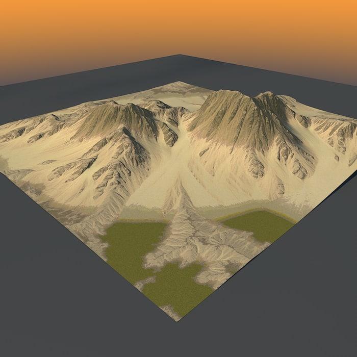 mountain terrain c4d