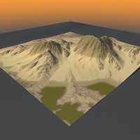 Lowpoly Mountain x2