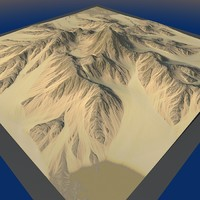 3d mountain terrain